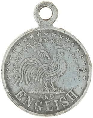 HANCOCK & ENGLISH 1880 RARE REBUS MEDALLION.