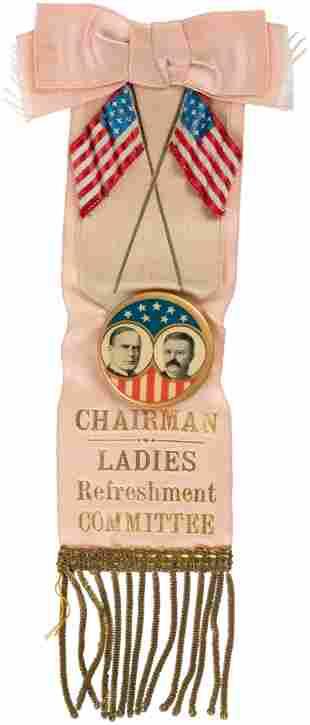 """McKINLEY & ROOSEVELT """"CHAIRMAN LADIES REFRESHMENT"""