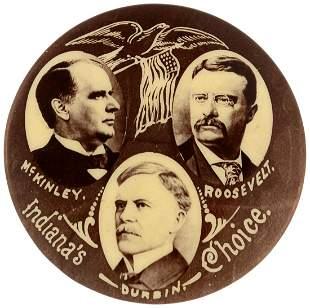 McKINLEY, ROOSEVELT & DURBIN 1900 INDIANA TRIGATE