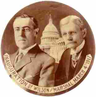 INAGURATION OF WILSON AND MARSHALL MARCH 4, 1917 RARE