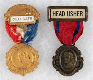 """COX: 1920 DEMOCRATIC NATIONAL CONVENTION """"DELEGATE"""" AND"""