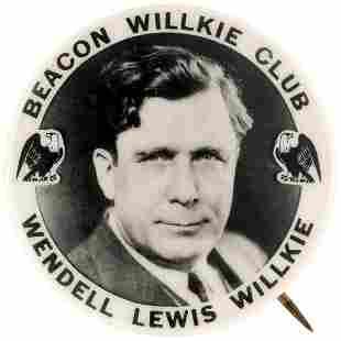 BEACON WILLKIE CLUB SCARCE NEW YORK REAL PHOTO PORTRAIT