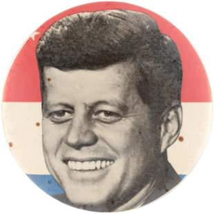 """KENNEDY RARE 3.5"""" BASTIAN BROTHERS SAMPLE BUTTON."""
