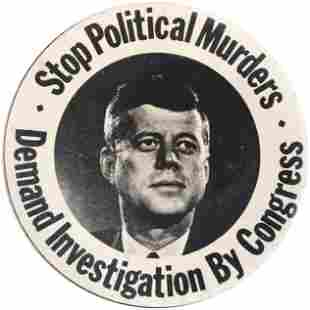 """KENNEDY """"STOP POLITICAL MURDERS DEMAND INVESTIGATION BY"""