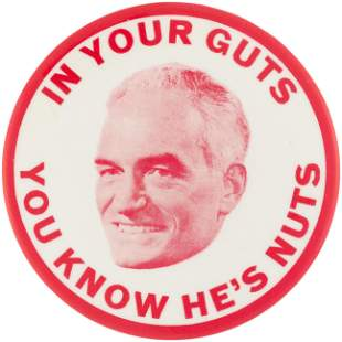 """JOHNSON ANTI-GOLDWATER """"IN YOUR GUTS YOU KNOW HE'S"""