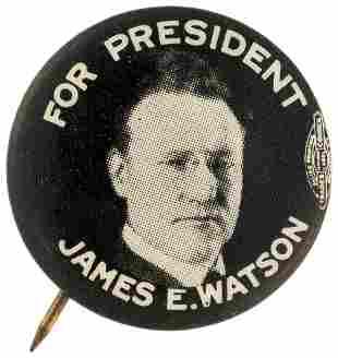 FOR PRESIDENT JAMES E. WATSON SCARCE 1928 REPUBLICAN