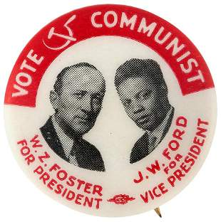 FOSTER & FORD SCARCE 1932 COMMUNIST PARTY CELLO JUGATE