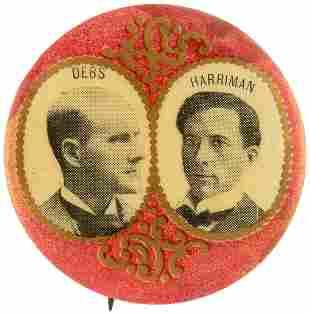 DEBS & HARRIMAN 1900 SOCIALIST PARTY GOLD FILIGREE