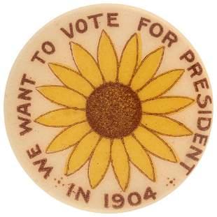 WE WANT TO VOTE FOR PRESIDENT 1904 KANSAS WOMEN'S