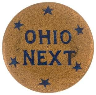 OHIO NEXT WOMEN'S SUFFRAGE SIX STAR BUTTON.