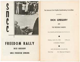 DICK GREGORY & THE FREEDOM SINGERS SNCC CIVIL RIGHTS