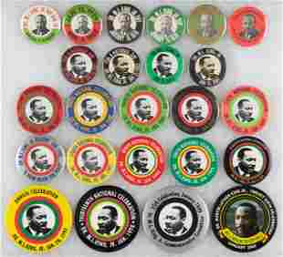 MARTIN LUTHER KING DAY RUN OF 24 BUTTONS FROM