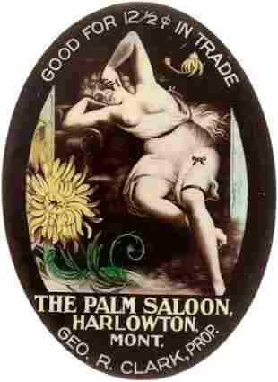 POCKET MIRROR FOR THE PALM SALOON, HARLOWTON, MT FOR 12