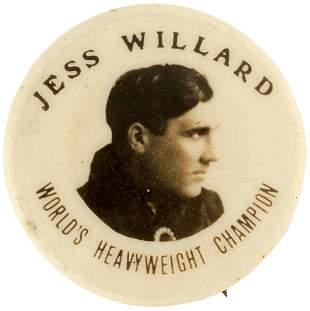 "C. 1919 ""JESS WILLARD WORLD'S HEAVYWEIGHT CHAMPION"""