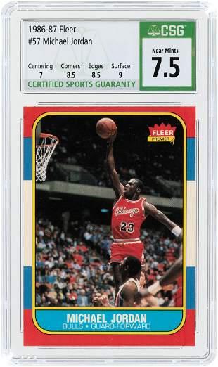 1986-87 FLEER #57 MICHAEL JORDAN ICONIC ROOKIE CARD
