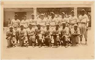 1937 CIUDAD TRUJILLO BASEBALL TEAM PHOTO WITH HOF'ERS