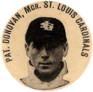1902-03 PAT (PATSY) DONOVAN MANAGER ST. LOUIS CARDINALS