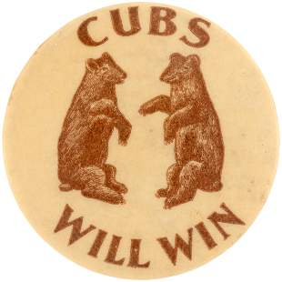 """1906 CHICAGO CUBS """"WILL WIN"""" WORLD SERIES PREDICTION"""