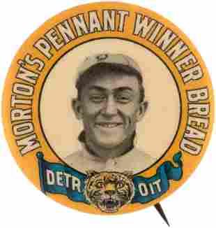 1910 MORTON'S PENNANT WINNER BREAD DETROIT TIGERS TY