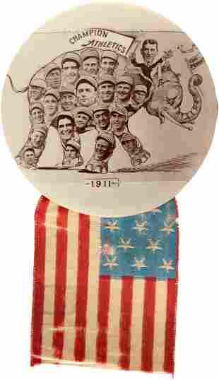 1911 PHILADELPHIA ATHLETICS WORLD CHAMPIONS TEAM REAL