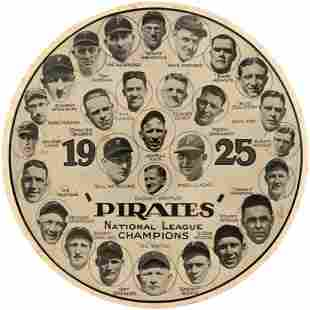 1925 PITTSBURGH PIRATES NATIONAL LEAGUE CHAMPIONS HUGE