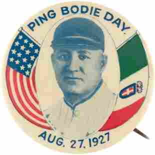 1927 PING BODIE DAY BUTTON.