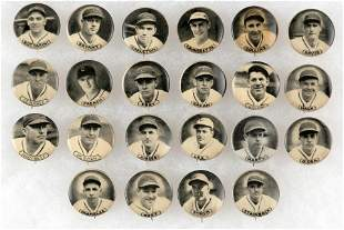1937 AMERICAN BADGE CO. CHICAGO CUBS BUTTONS COMPLETE