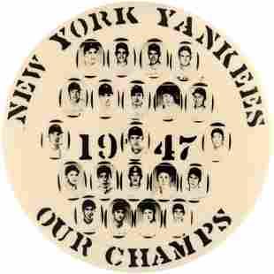 1947 NEW YORK YANKEES WORLD CHAMPIONS LARGE REAL PHOTO