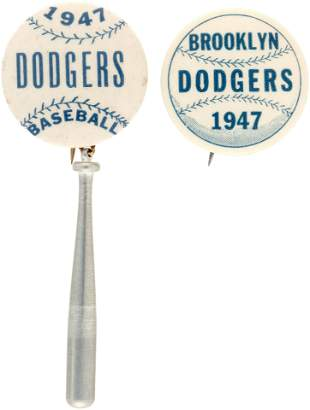 1947 BROOKLYN DODGERS NATIONAL LEAGUE CHAMPIONS BUTTON