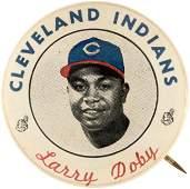 C. 1949 LARRY DOBY (HOF) CLEVELAND INDIANS PM10 STADIUM
