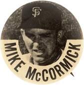 C. 1960 MIKE McCORMICK PM10 STADIUM BUTTON.