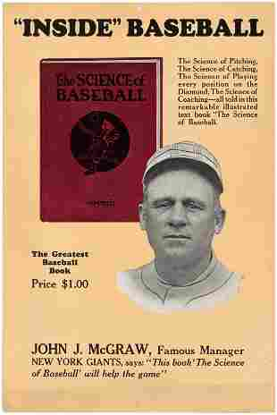 JOHN McGRAW (HOF) THE SCIENCE OF BASEBALL BOOK