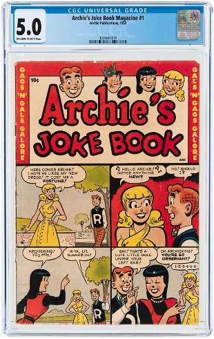 ARCHIE'S JOKE BOOK MAGAZINE #1 1953 CGC 5.0 VG/FINE.