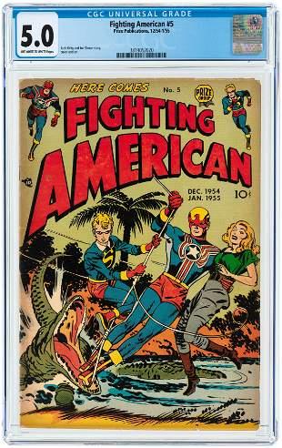 FIGHTING AMERICAN #5 DECEMBER 1954-JANUARY 1955 CGC 5.0