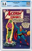 ACTION COMICS #242 JULY 1958 CGC 3.5 VG- (FIRST