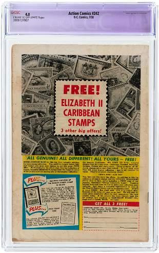 ACTION COMICS #242 JULY 1958 CGC RESTORED 4.0 SLIGHT