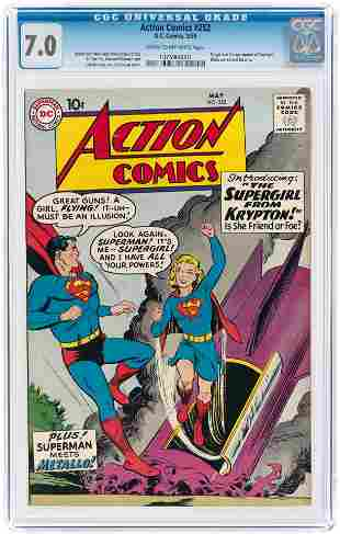 ACTION COMICS #252 MAY 1959 CGC 7.0 FINE/VF (FIRST