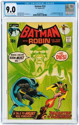 BATMAN #232 JUNE 1971 CGC 9.0 VF/NM (FIRST RA'S AL