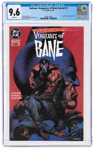 BATMAN: VENGEANCE OF BANE SPECIAL #1 JANUARY 1993 CGC