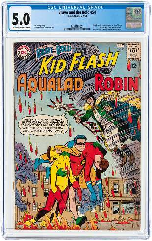 BRAVE AND THE BOLD #54 JULY 1964 CGC 5.0 VG/FINE (FIRST