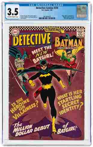 DETECTIVE COMICS #359 JANUARY 1967 CGC 3.5 VG- (FIRST