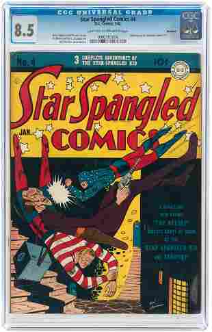 STAR SPANGLED COMICS #4 JANUARY 1942 CGC 8.5 VF+