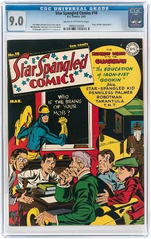 STAR SPANGLED COMICS #18 MARCH 1943 CGC 9.0 VF/NM.