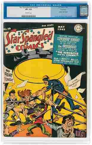 STAR SPANGLED COMICS #20 MAY 1943 CGC 8.5 VF+ ROCKFORD