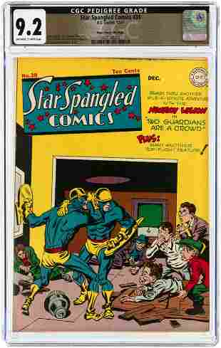 STAR SPANGLED COMICS #39 DECEMBER 1944 CGC 9.2 NM- MILE