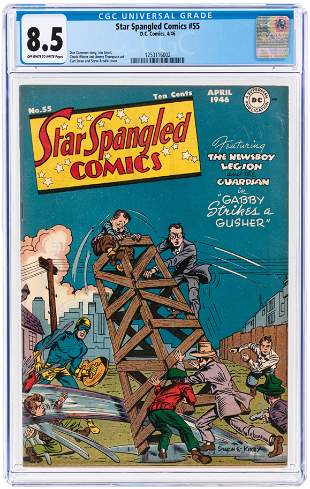 STAR SPANGLED COMICS #55 APRIL 1946 CGC 8.5 VF+.