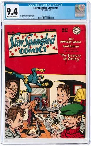 STAR SPANGLED COMICS #56 MAY 1946 CGC 9.4 NM.