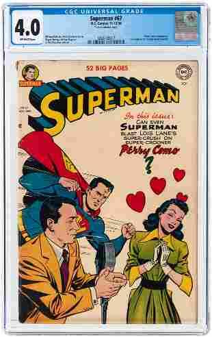 SUPERMAN #67 NOVEMBER-DECEMBER 1950 CGC 4.0 VG.