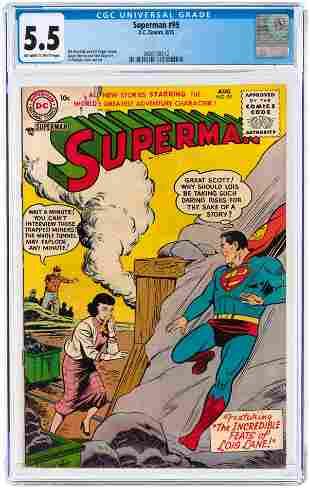 SUPERMAN #99 AUGUST 1955 CGC 5.5 FINE-.