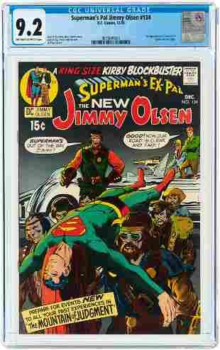 SUPERMAN'S PAL JIMMY OLSEN #134 DECEMBER 1970 CGC 9.2